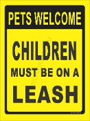 Pets Welcome Children On Leash