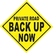 Private Road Back Up Now