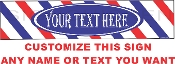 Your Text Here Barber Sign  CUSTOMIZE THIS SIGN!