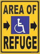 Area of Refuge w/ Arrows CUSTOMIZE THIS SIGN!