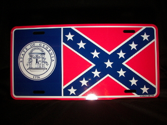 Historic Georgia License Plate