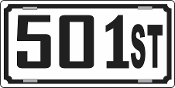 50 1st License Plate
