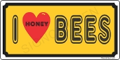 I Love Honey Bees License Plate