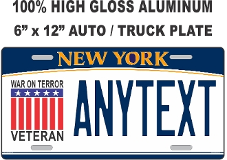 New York - WAR ON TERROR - License Plate