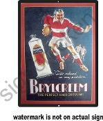Brylcreme barber Shop Ad -  Vintage Advertisement Replica