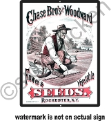 Chase Brother's Seeds -  Vintage Advertisement Replica