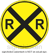 Railroad Crossing Yellow