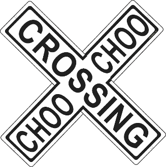 Choo Choo Crossing - Crossbuck - RailRoad