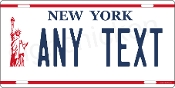 New York Liberty License Plate -  CUSTOMIZE THIS PLATE!