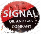 Signal Oil and Gas  Garage Sign