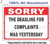 Deadline For Complaints