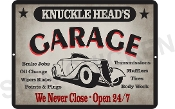 KNUCKLEHEAD'S GARAGE Sign