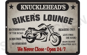 KNUCKLEHEAD'S BIKER LOUNGE Sign