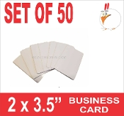 "2"" x 3.5"" Aluminum Sublimation Blank Business Cards - 50 pieces"
