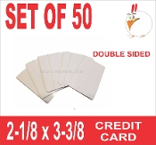 Credit Card Size Business Cards Double Sided - 50 pieces